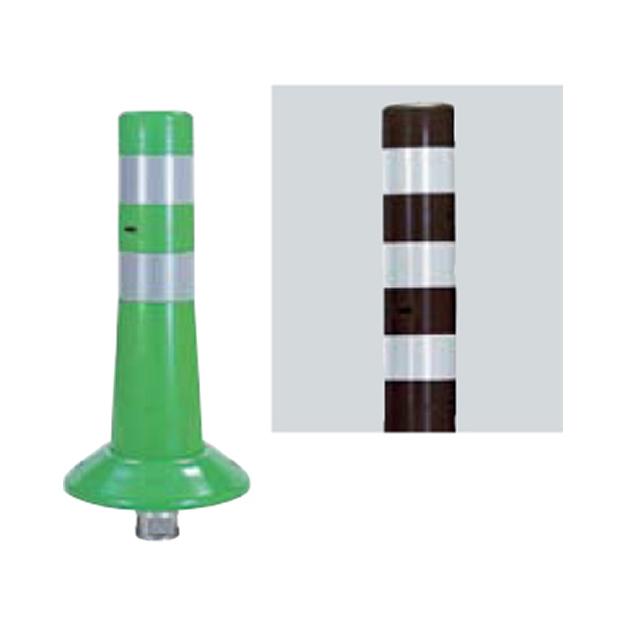 メーカー直送 サンポール ガードコーン φ80,台座径φ200×H400mm カラー:茶 [RBK-40(C)]