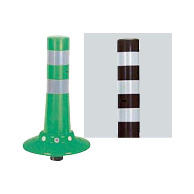 メーカー直送 サンポール ガードコーン φ80,台座径φ250×H400mm カラー:茶 [RBKC-40W(C)]
