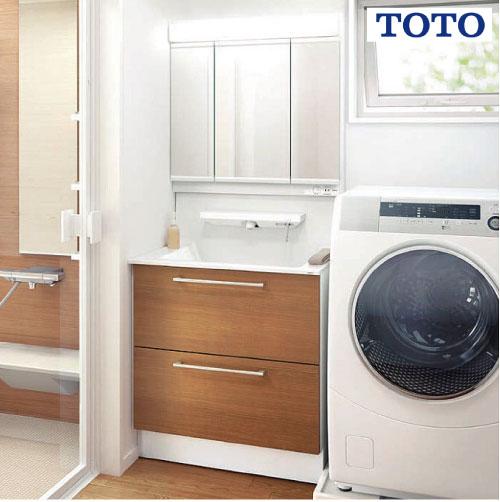 メーカー直送 TOTO 洗面化粧台 オクターブ 間口750mm [ミラー:LMFA075A3GLC1G 下台:LDSFA075BCADN1C] 三面鏡 ワイドLED照明