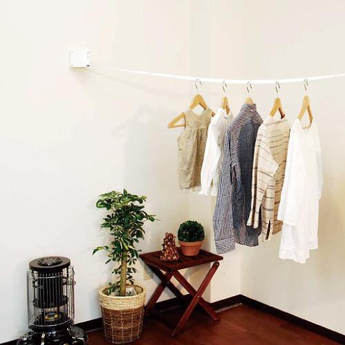 室内物干し [ブルックリンランドリール] TIME&GARDEN マテリアルワールド 室内用物干ベルト 洗濯物干し ランドリー