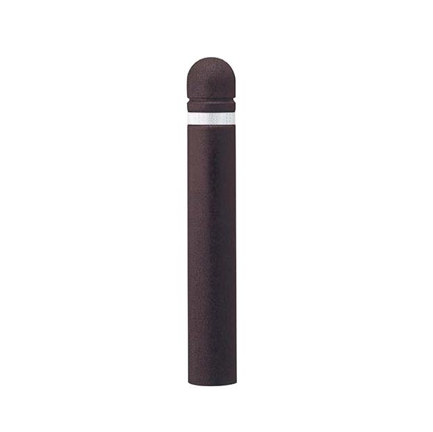 【法人様限定】 メーカー直送 サンポール リサイクルボラード ゴムチップ φ120×H800mm カラー:ダークブラウン [RB-120K(C)]