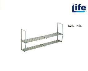 メーカー直送品 法人様限定商品 地域限定 セクショナルキッチン オプション スライドシェルフ 2段 Oタイプ [SUS304N2L] ライフ 660~1210