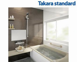 送料無料 システムバス タカラ RELAGE レラージュ S1216サイズ ドア勝手:AL勝手 ホーロークリーン浴室パネル タフロア アクリル人造大理石浴槽 takara standard