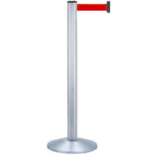 【法人様限定】 メーカー直送 サンポール 屋内型ベルトリール φ70×H1021mm カラー:ベルト赤 [BR-310MS(RD)]