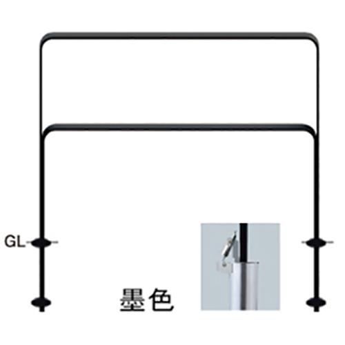 メーカー直送 サンポール 和モダン フラットバーアーチ W1000×H800mm カラー:鉄色 [FNA-7SK10-800-135]