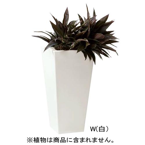 【最安値】 カラー:ホワイト サンポール □400×H800mm メーカー直送 [PS-081(W)]:e-キッチンマテリアル インテリアプランター-その他