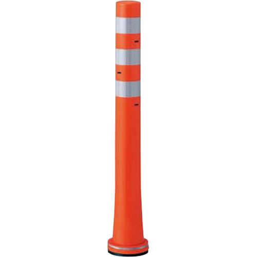 メーカー直送 サンポール ガードコーン φ80,台座径φ130×H800mm カラー:オレンジ [RBHS-80(R)]