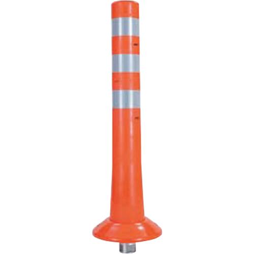 メーカー直送 サンポール ガードコーン φ80,台座径φ200×H650mm カラー:オレンジ [RBK-65(R)]