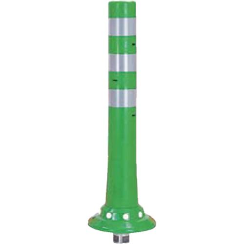 メーカー直送 サンポール ガードコーン φ80,台座径φ200×H650mm カラー:グリーン [RBKC-65(G)]