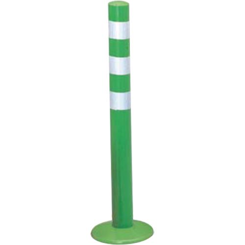 メーカー直送 サンポール ガードコーン φ60,台座径φ175×H650mm カラー:グリーン [RBMS-65(G)]