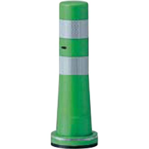 メーカー直送 サンポール ガードコーン φ80,台座径φ130×H400mm カラー:グリーン [RBSS-40(G)]