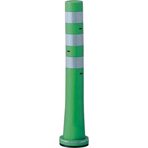 メーカー直送 サンポール ガードコーン φ80,台座径φ130×H650mm カラー:グリーン [RBSS-65(G)]
