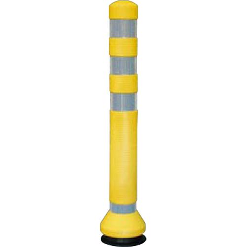 メーカー直送 サンポール リサイクルゴムボラード φ80×H675mm カラー:イエロー [RC-65(Y)]