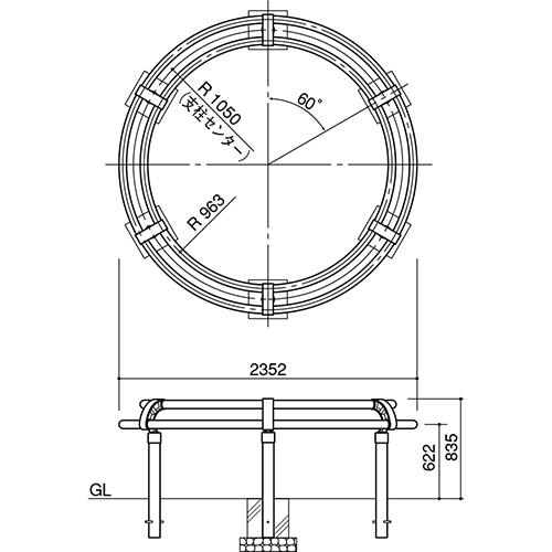 メーカー直送 サンポール ツリーサークル  [SP-800-C-21] φ2100 SUNPOLE
