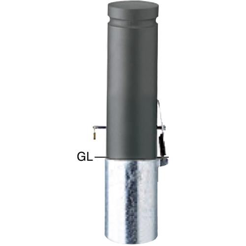 品質が φ152.5(t3.0)×H450mm ボラード サンポール [V-354SKL]:e-キッチンマテリアル ショート メーカー直送 カラー:ダークグレー-その他