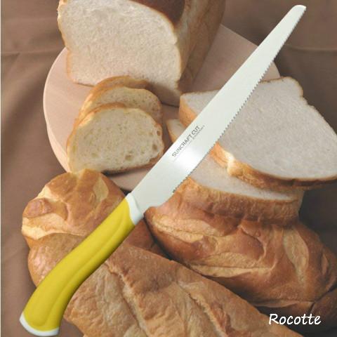 パン 包丁 焼きたてパンもかたいパンもスムーズな切れ味 スムーズパン切りナイフ キッチン 波刃 HE-2101 ブレッドナイフ 直営ストア 日本製 サンクラフト パン切り包丁 パン切り 売り込み