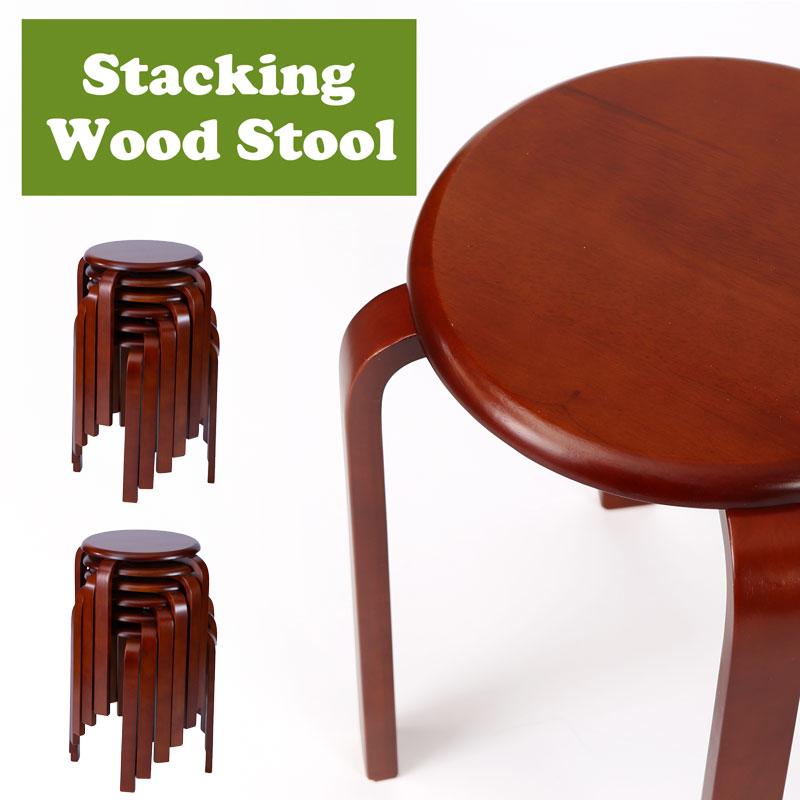 送料無料 丸いす 木製 丸椅子 積み重ね 丸椅子 おしゃれ北欧 VS-9820_12 12脚/1セット