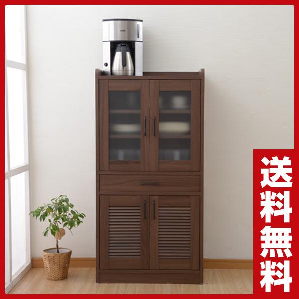 食器棚 ECCB-1260 カップボード キッチンボード キッチンラック キッチンストッカー ラック 山善 YAMAZEN【送料無料】【あす楽】
