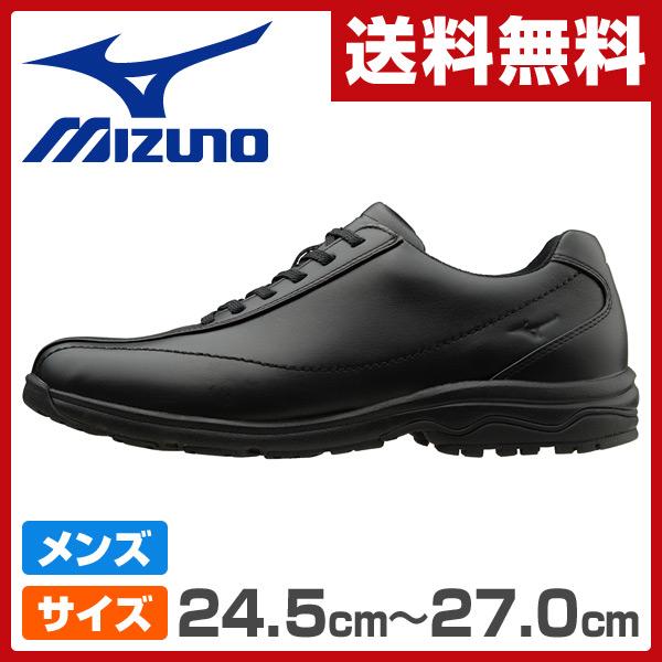 ミズノ(MIZUNO) ウォーキングシューズ メンズサイズ24.5cm-27.0cm LD40 ブラック ビジネスシューズ 男性 シューズ 靴 スニーカー 軽い LD-40 【送料無料】