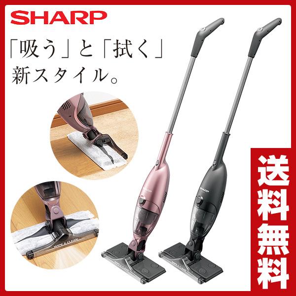 シャープ(SHARP) スティック型コードレス拭き掃除機 EC-FW18 ピンク系 紙パックレス 新生活 一人暮らし ワイパー コードレスクリーナー 紙パック不要 ハンディクリーナー ハンドクリーナー 【送料無料】