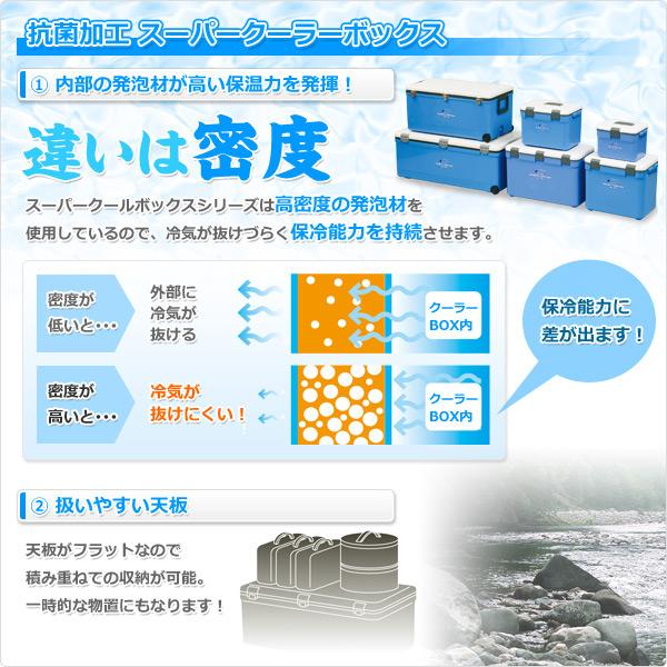 有山善(YAMAZEN)露营者收集大型超市酷箱DX(76L)CC76L-DX蓝色解说员的冷气设备箱冷气设备包户外保冷包