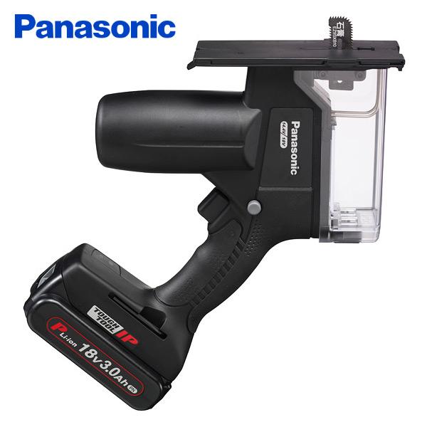 パナソニック(Panasonic) 充電角穴カッター Dual(デュアル) 18V/3.0Ahプラスチックケース/電池2個付き EZ45A3PN2G-B 電動工具 電動穴開け 切断 開口 カット カッター 【送料無料】