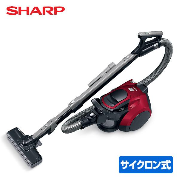 サイクロン掃除機 EC-VP1R レッド サイクロンクリーナー 掃除機 クリーナー サイクロン式 コンパクト 遠心分離 キャニスター シャープ(SHARP) 【送料無料】