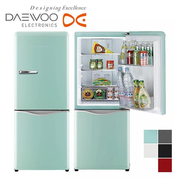 DAEWOO クラシックスタイル 2ドア 冷凍 冷蔵庫 150L (冷蔵室98L/冷凍室52L) DR-C15右開き ノンフロン冷蔵庫 THE CLASSIC おしゃれ レトロ シンプル 大宇 一人暮らし 冷凍庫 冷蔵庫 【送料無料】