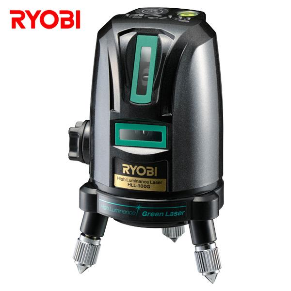 レーザー墨出器 (水平ライン約110度/垂直ライン×1本) HLL-100G 墨出し器 墨出機 墨出し機 測量用品 レーザー リョービ(RYOBI) 【送料無料】