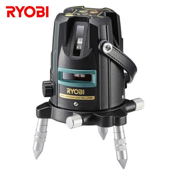 レーザー墨出器 (水平ライン約120度/垂直ライン×3本/鉛直点/おおがね/地墨点) HLL-350G 墨出し器 墨出機 墨出し機 測量用品 レーザー リョービ(RYOBI) 【送料無料】