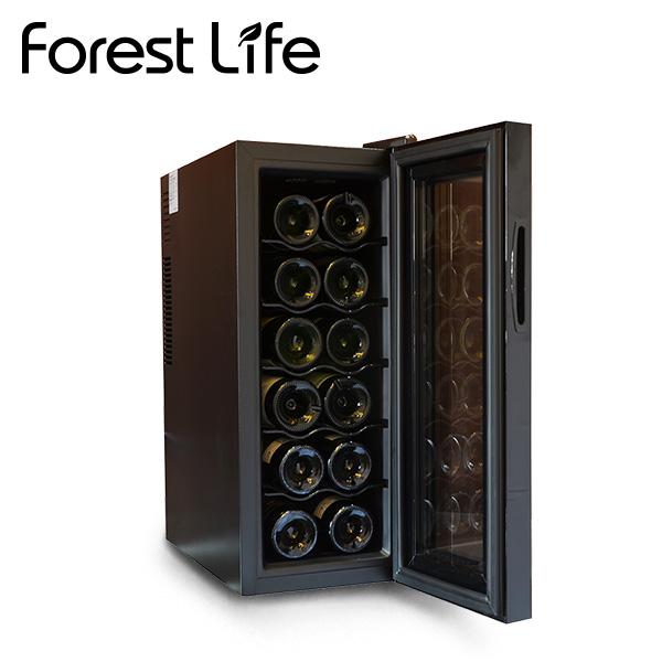 ワインセラー 35L 12本収納 ペルチェ方式 WCF-12 家庭用 ペルチェ冷却方式 ワインクーラー UVカット 冷蔵庫 おしゃれ 業務用 フィフティ(FIFTY) フォレストライフ(Forest Life) 【送料無料】