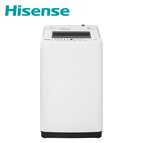 全自動洗濯機 洗濯4.5kg HW-T45C ホワイト 洗濯機 4.5kg 洗濯 脱水 ステンレス槽 槽洗浄 槽乾燥 予約タイマー 一人暮らし 新生活 ハイセンスジャパン(Hisense) 【送料無料】