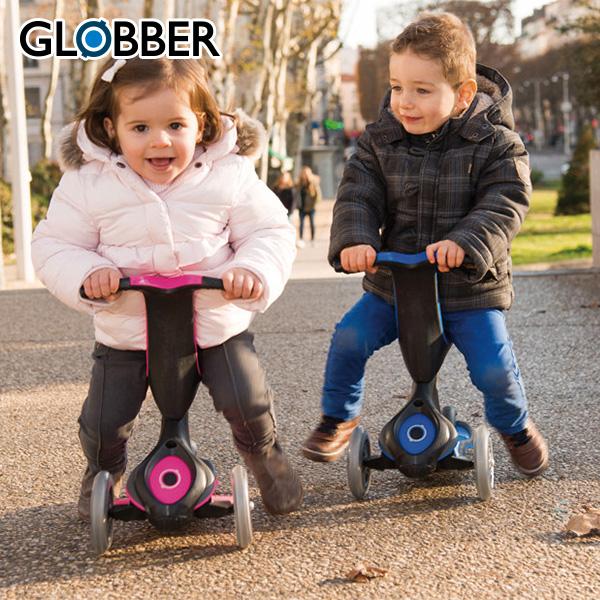 GLOBBER(グロッパー) EVO キックボード キックスクーター コンフォート対象年齢12か月から WLGB458100/106/110 キッズ ベビー おもちゃ 玩具 キックボード 乗用玩具 キックスクーター 三輪車 【送料無料】