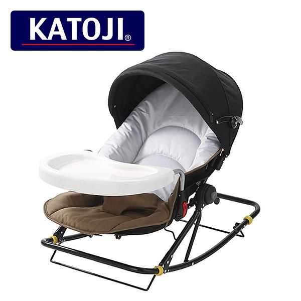 カトージ(KATOJI) ママコラボバウンサー コンパクト テーブル付き新生児から体重15kg (3歳頃) 03702 正規品 ベビー 赤ちゃん バウンサー 新生児 おもちゃ トイ チェア ベビーチェア バランス 【送料無料】
