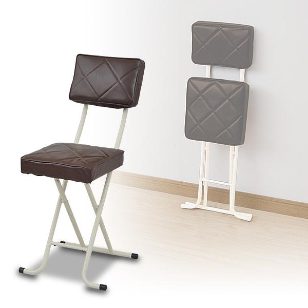 折りたたみチェア ご予約品 椅子 イス いす選挙 送料無料 背もたれ付 YZX-56 BR ブラウン チェアー 折り畳みチェア 賜物 折畳み YAMAZEN 選挙 折畳 山善 いす パイプチェア