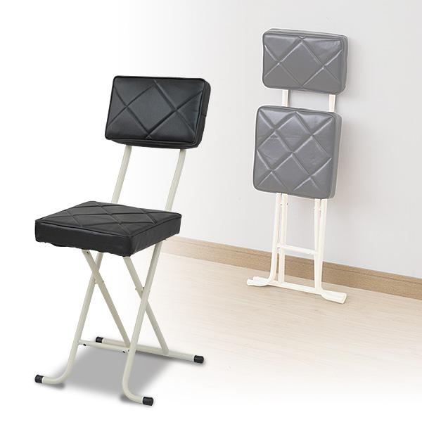 折りたたみチェア 新色追加して再販 椅子 イス いす 送料無料 背もたれ付 YZX-56 BK ブラック チェアー 折畳 パイプチェア 山善 YAMAZEN 折り畳みチェア 折畳み 商品 選挙
