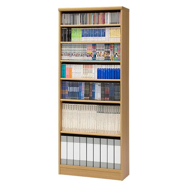 【国産】本格書棚 本棚(幅90 高さ178) エースラック ART1890P1.5HC NA ナチュラル 【送料無料】