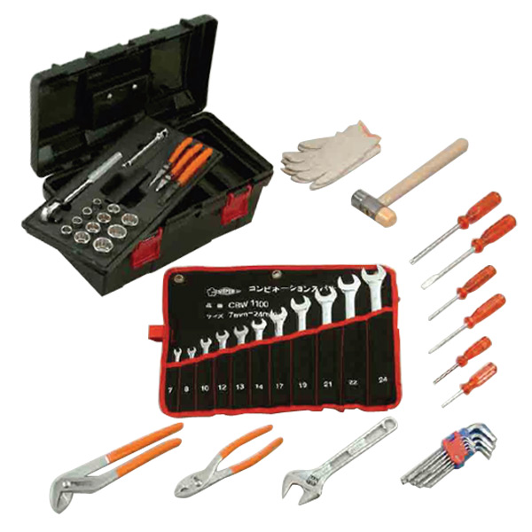 b1ccfd25e44 e-kurashi  I set the standard tool set 12.7sq S6500N black car tool set  agricultural machinery tool set maintenance tool for the SUPER TOOL ( SUPERTOOL) pro ...