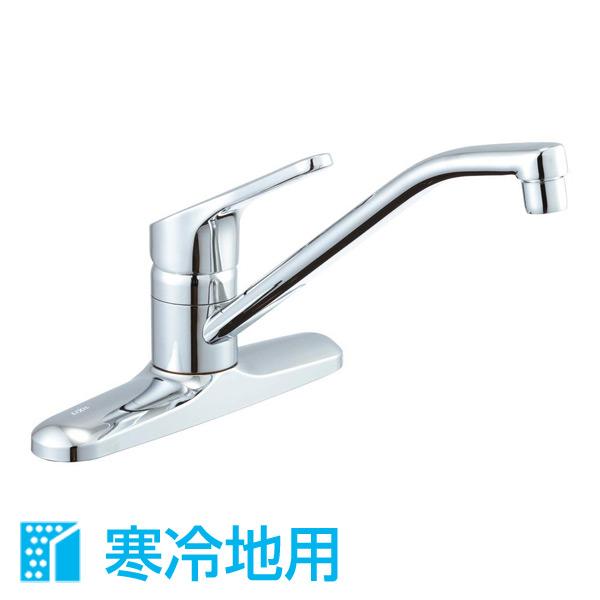 シングルレバー混合水栓 (寒冷地用) RSF-551N 水栓金具 混合水栓 キッチン 台所 水道 蛇口 イナックス(INAX) 【送料無料】