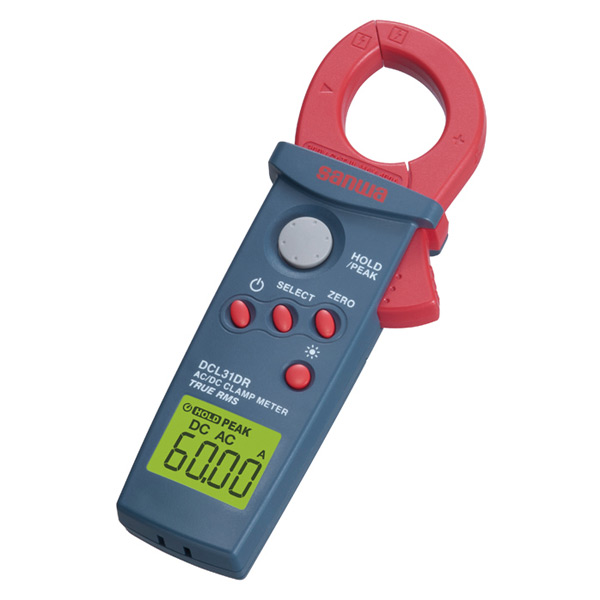 SANWA(三和電気計器) デジタルクランプメーター AC/DC両用 真の実効値ピークホールド機能付 DCL31DR ミニクランプメーター ACDC 計測機 計測器 測定 【送料無料】