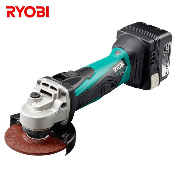 14.4V 充電式ディスクグラインダー (電池パック/充電器付き) BG-1410 充電ディスクグラインダー 研磨 錆び落とし 板金 塗装 リョービ(RYOBI) 【送料無料】