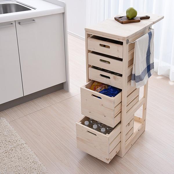 Yamazen Kitchen Stocker With The Hidden Caster Sbk 9030 Wagon Vegetables Rack Gap Drawer