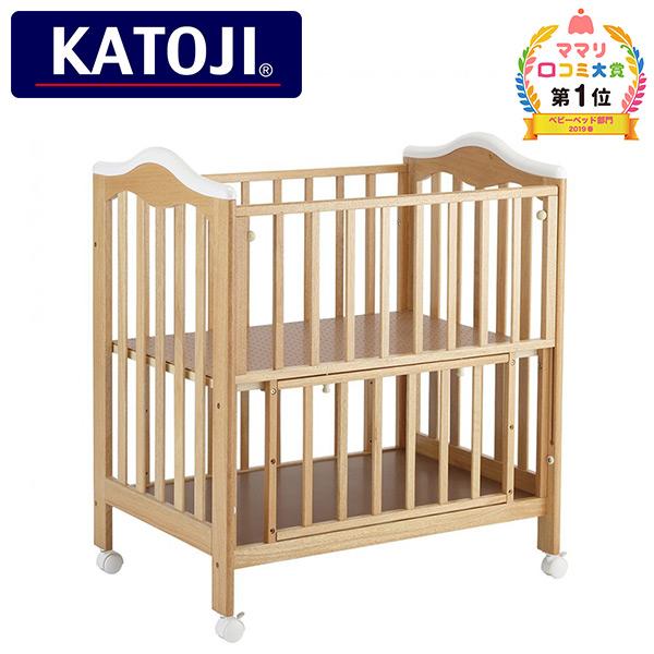 ミニタチベッド スノーマウンテン 2809 正規品 ベビー 赤ちゃん ベッド 収納棚 ミニ 小さい コンパクト おしゃれ ベビーベッド ベビーベット カトージ(KATOJI) 【送料無料】