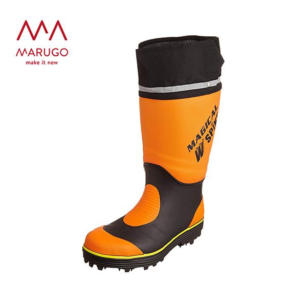 長靴 作業用 マジカルスパイク #900 MGCLSP900 20:オレンジ ロング 安全 ゴム 作業靴 作業用長靴 丸五 マルゴ 【送料無料】