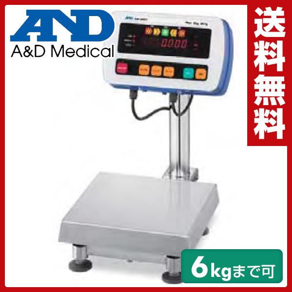 A&D(エーアンドデイ) 防塵・防水台はかり(ひょう量6kg) SW-6KS 【送料無料】