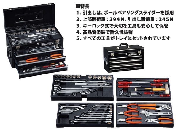 ed221fb5517 I set the deluxe tool set 12.7sq (chest type) S7000DX black (be branded and  paint it) car tool set agricultural machinery tool set maintenance tool for  the ...