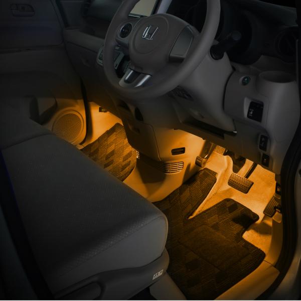 楽天市場 N Box Jf1 Jf2 用ledフットライトキット フットランプ ルームランプ 足元照明 ライト カー用品 自動車エーモン E くるまライフ E くるまライフ
