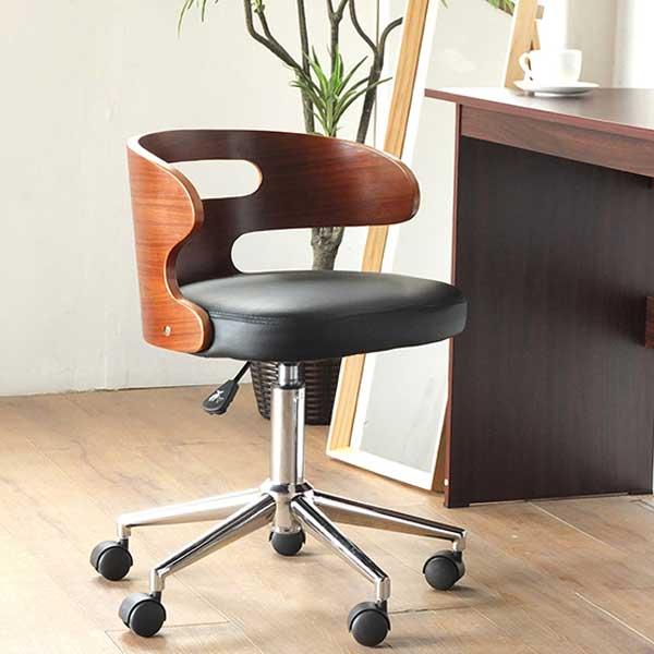 【スーパーセール限定価格】曲げ木レザーチェア デスクチェアー オフィスチェア 昇降式 椅子