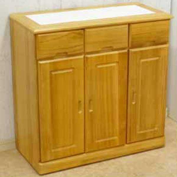 天然木キッチンカウンター 完成品 隠しキャスター付き 幅72cm 【アウトレット】 【訳あり】 【在庫処分】