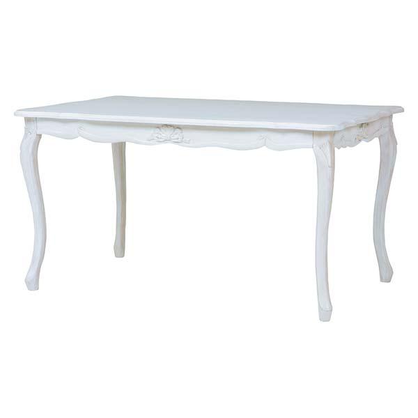 【半額以下】セール ダイニングテーブル 幅135cm アンティーク家具 ホワイト 白 姫系 可愛い